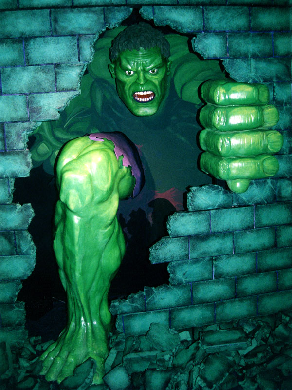 Incredible Hulk Display for Marvel   TOY FAIR, New York